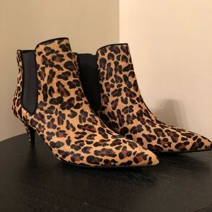 Zara | Tan/Black Leopard Print Booties